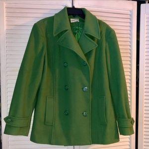 St. John's Bay Green Wool Peacoat